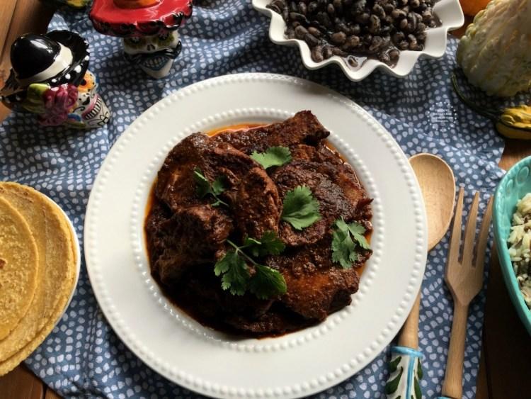 Mexican Adobo Pork Shoulder complete dinner in 30 minutes