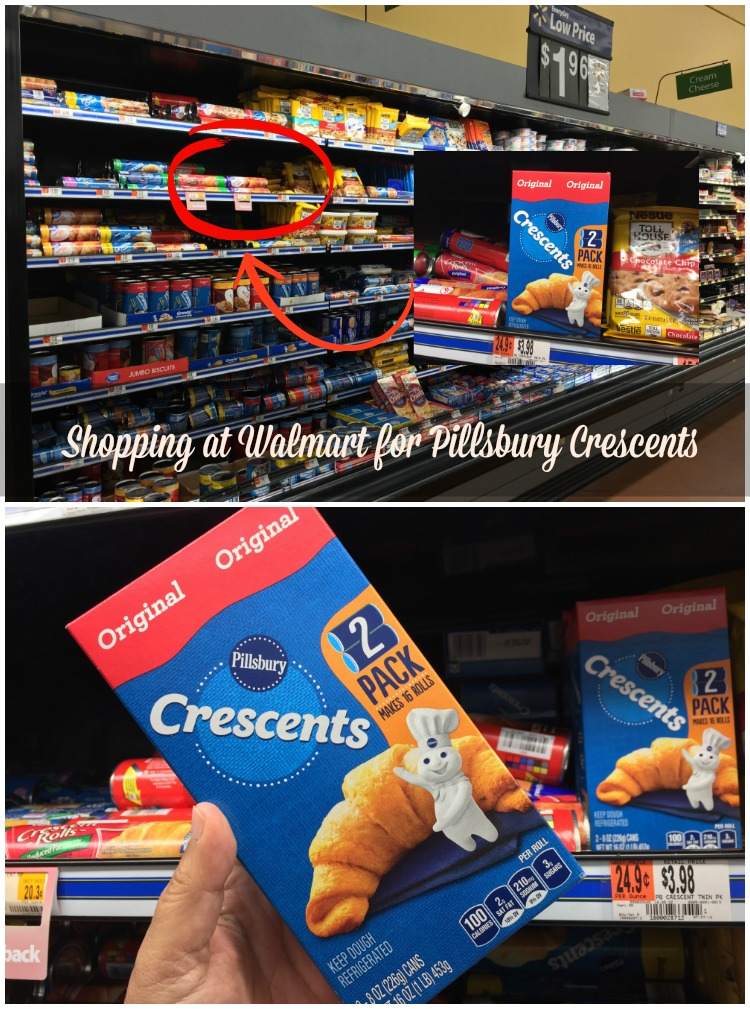Shopping at Walmart for Pillsbury Crescents