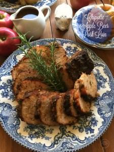 El Día de Acción de Gracias es la perfecta ocasión para servir un sabroso Lomo de Cerdo Cervecero con Chipotle y Manzana
