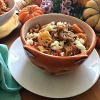 Fall Pasta for Thanksgiving Menu