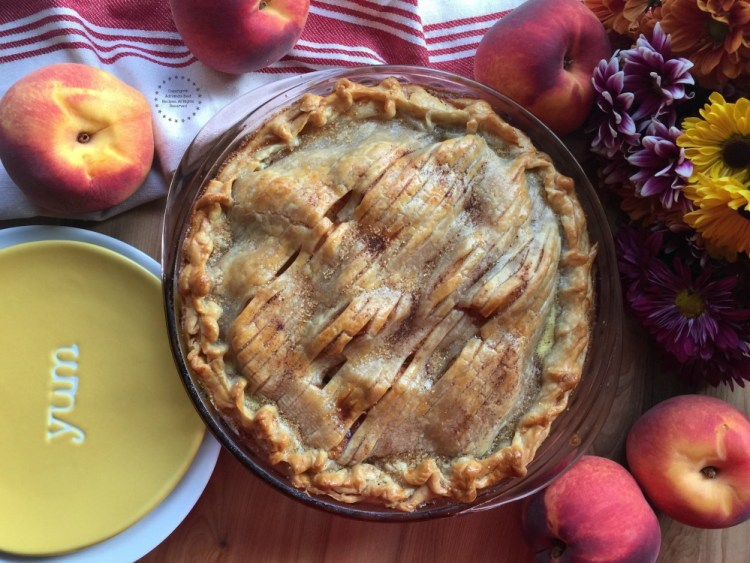 Nothing better than a freshly made peach pie to end a good holiday meal