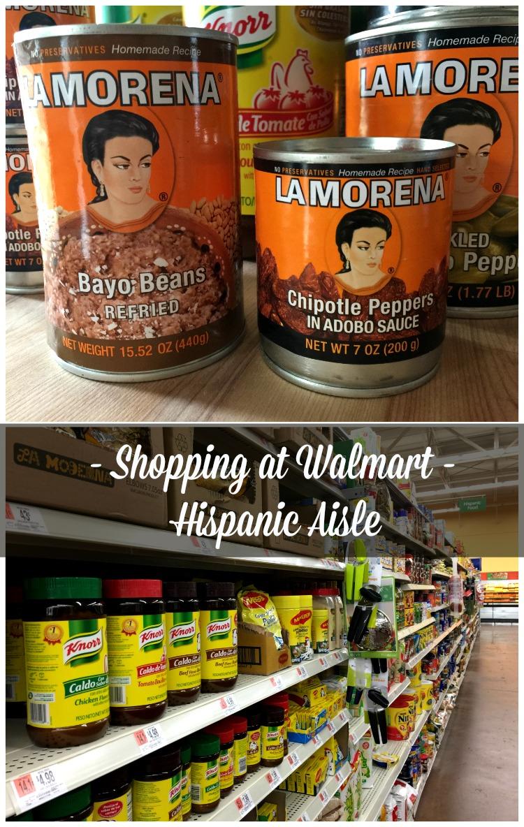 Shopping at Walmart Hispanic Aisle