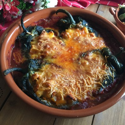 Spicy Turkey Picadillo Chiles Rellenos
