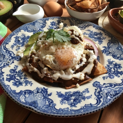 Mole Chilaquiles for Breakfast