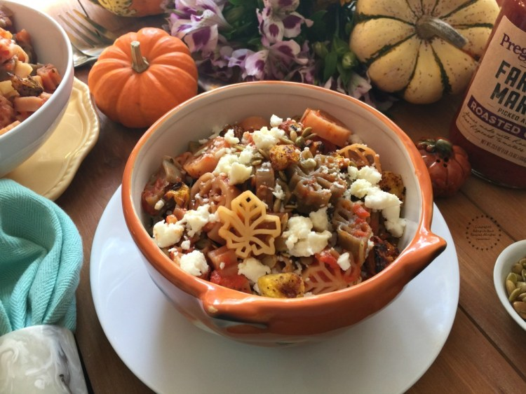 The fall pasta is ready in less than 15 minutes