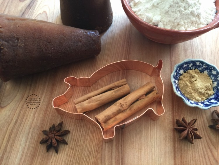 Few of the ingredients for the Piloncillo Ginger Cookies