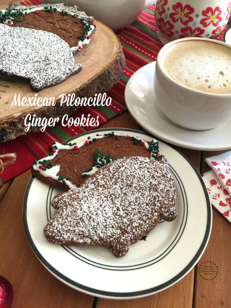Mexican Piloncillo Ginger Cookies aromatic, sweet and perfect to enjoy with coffee