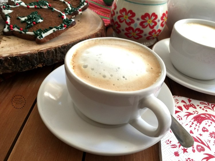 Pair the piloncillo ginger cookies with a nice cup of frothy coffee