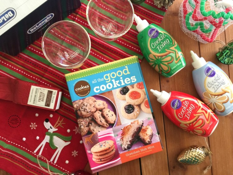 Participate for a chance to win one holiday cookie decorating gift basket sponsored by DeLonghi