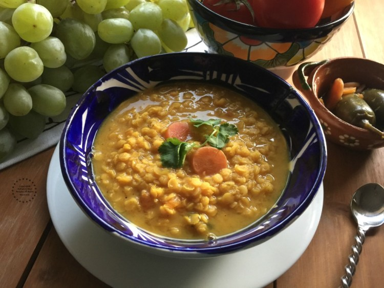 Spicy Red Lentils Soup for New Year