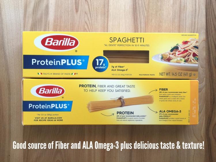 La Pasta Barilla ProteinPLUS contiene fibra y ALA Omega-3