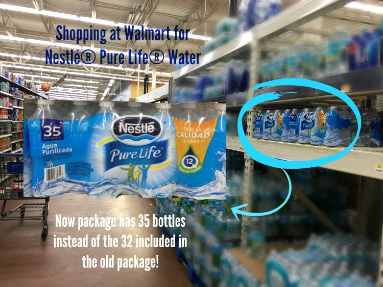 Shopping at Walmart for Nestlé Pure Life water now with 35 bottles