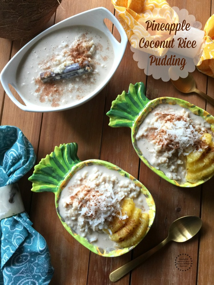 A delicious pineapple coconut rice pudding to celebrate the summer barbecues.