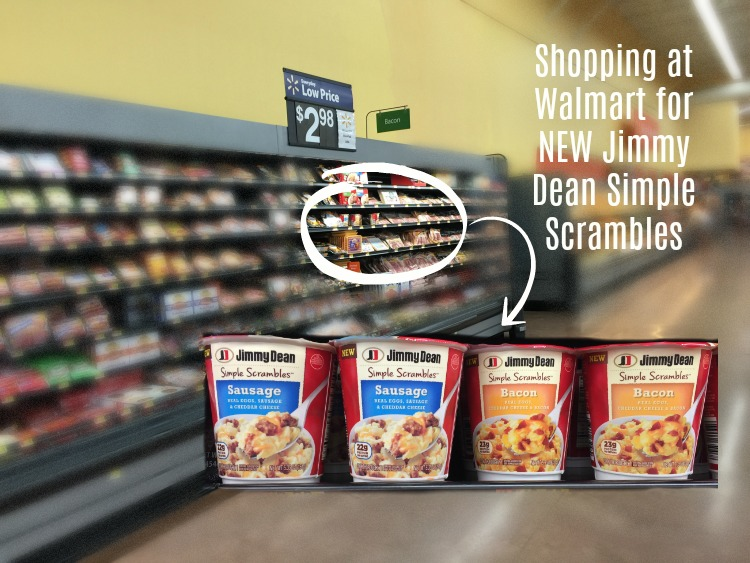 Shopping at Walmart for Jimmy Dean Simple Scrambles