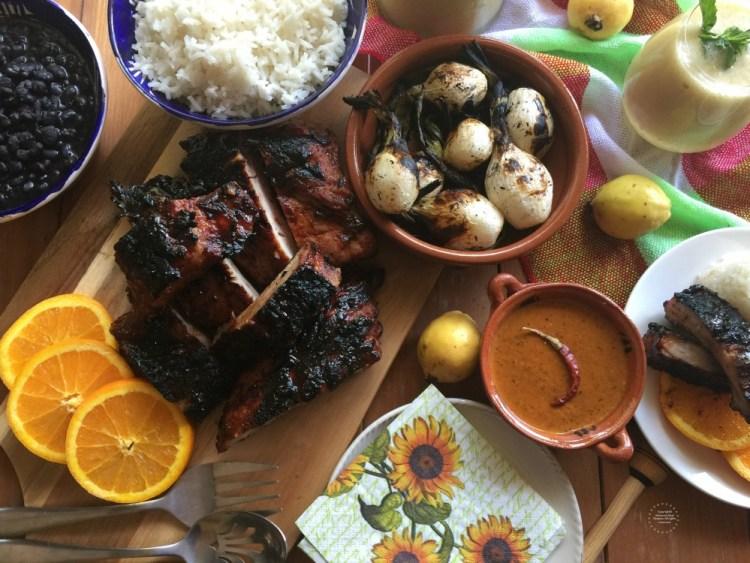 Chipotle Guava BBQ Pork Back Ribs Picnic Feast