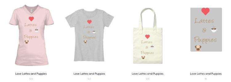 Colección Love Lattes and Puppies