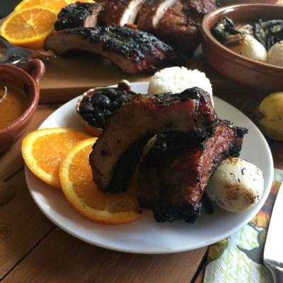 Costillitas de Cerdo con Guayaba y Chipotle