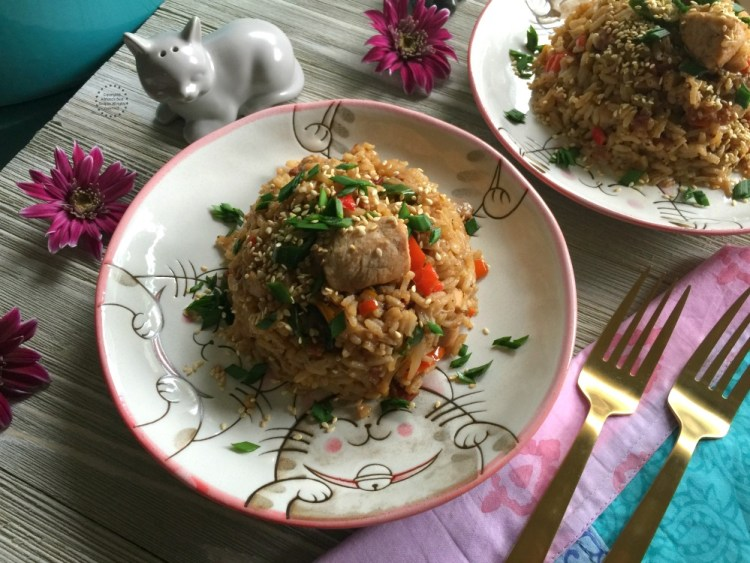 A latino style fried rice inspired in classic Chinese dish
