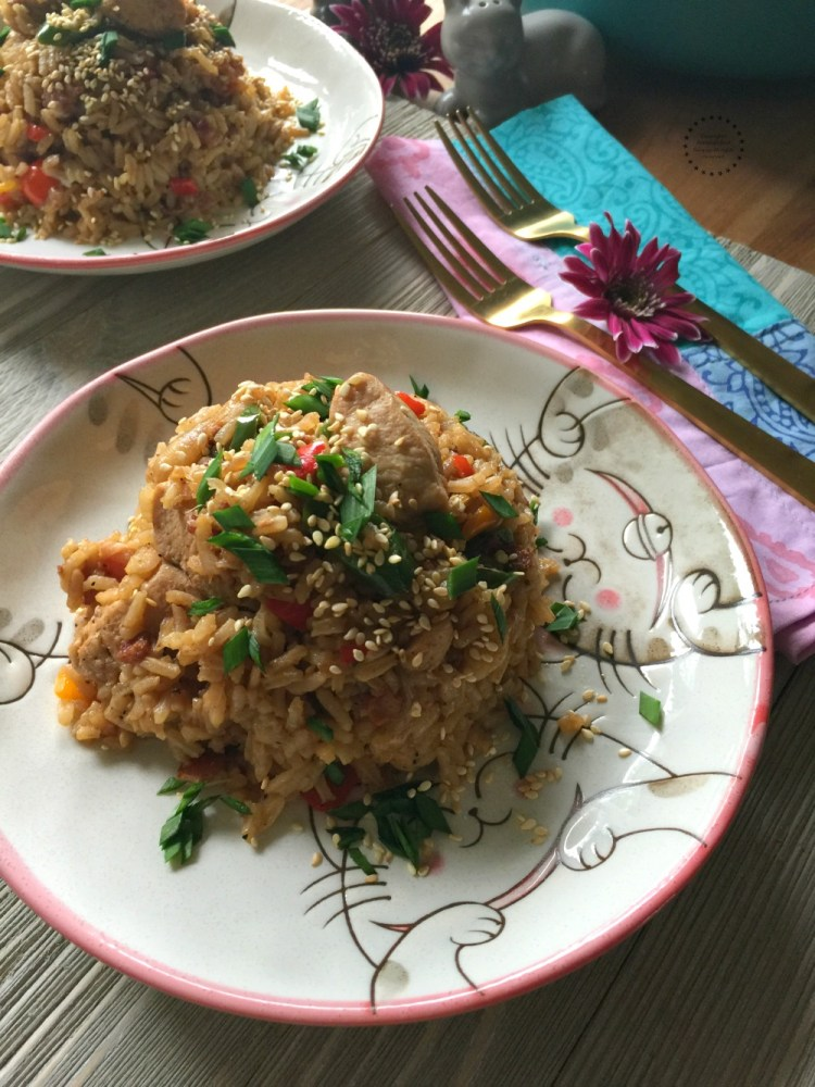 Mexican and Chinese cuisines meet in a simple dish called latino style fried rice