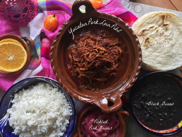 Complete menu to enjoy Yucatan Pork Loin Pibil at home
