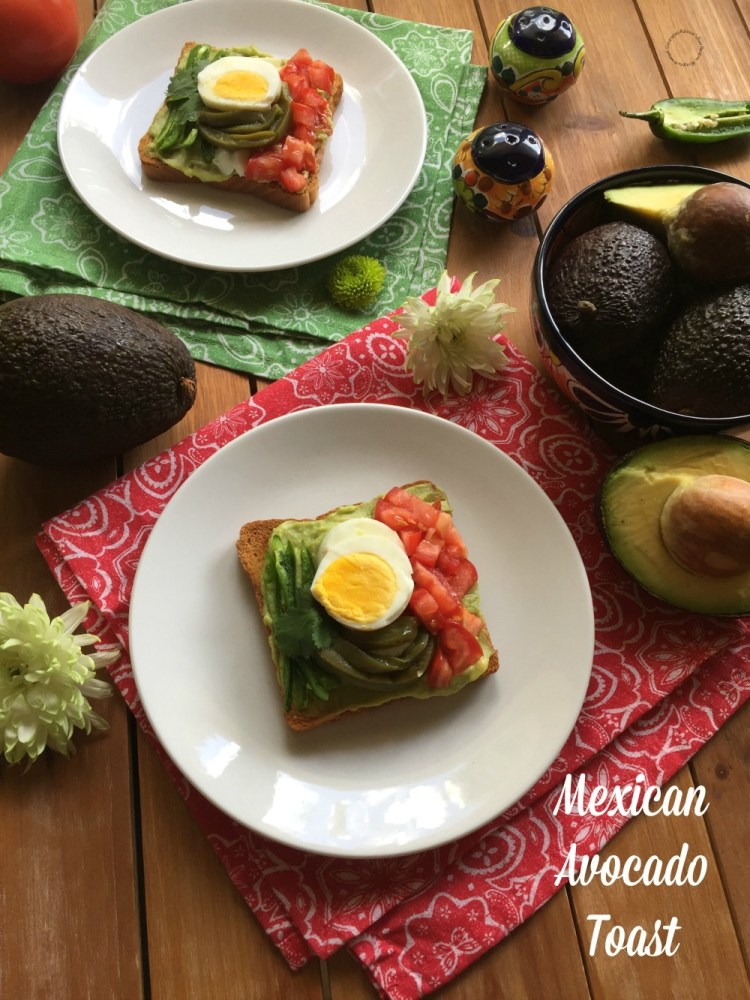 This Mexican Avocado Toast is a good idea for entertaining at home too