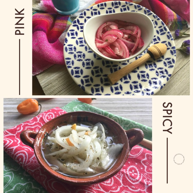 Mexican Pickled Onions, Pink or Spicy