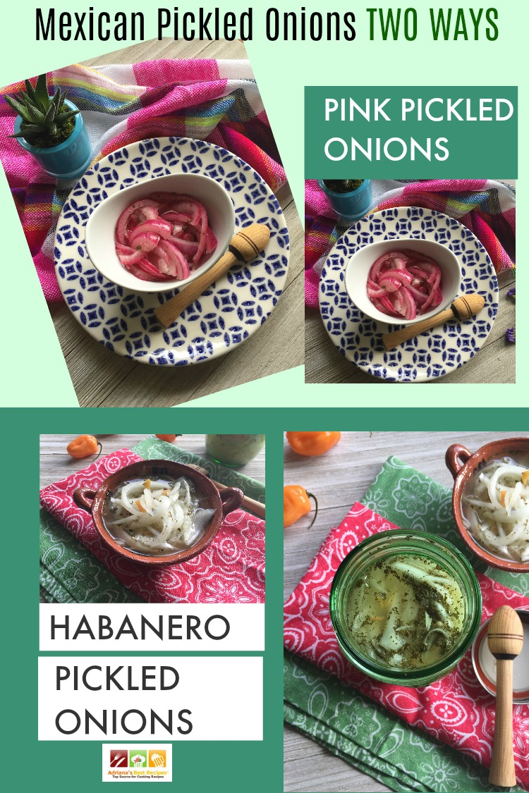 Mexican Pickled Onions Two Ways. One Pink and one Spicy Habanero