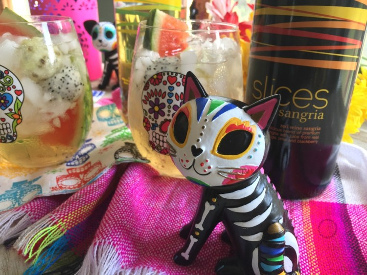 The Prickly Pear Mexican Sangria goes very nicely with Mexican Food