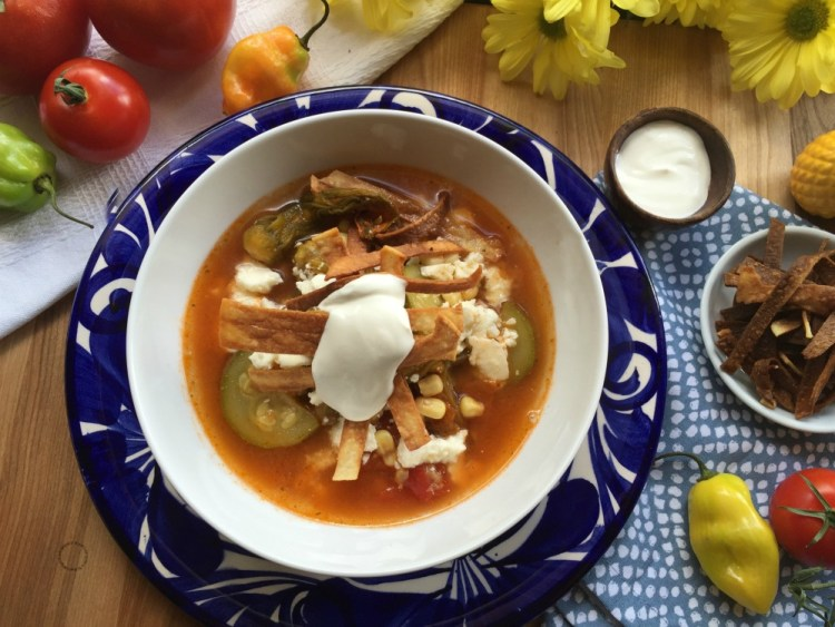 Comforting Mexican Zucchini Flower Soup