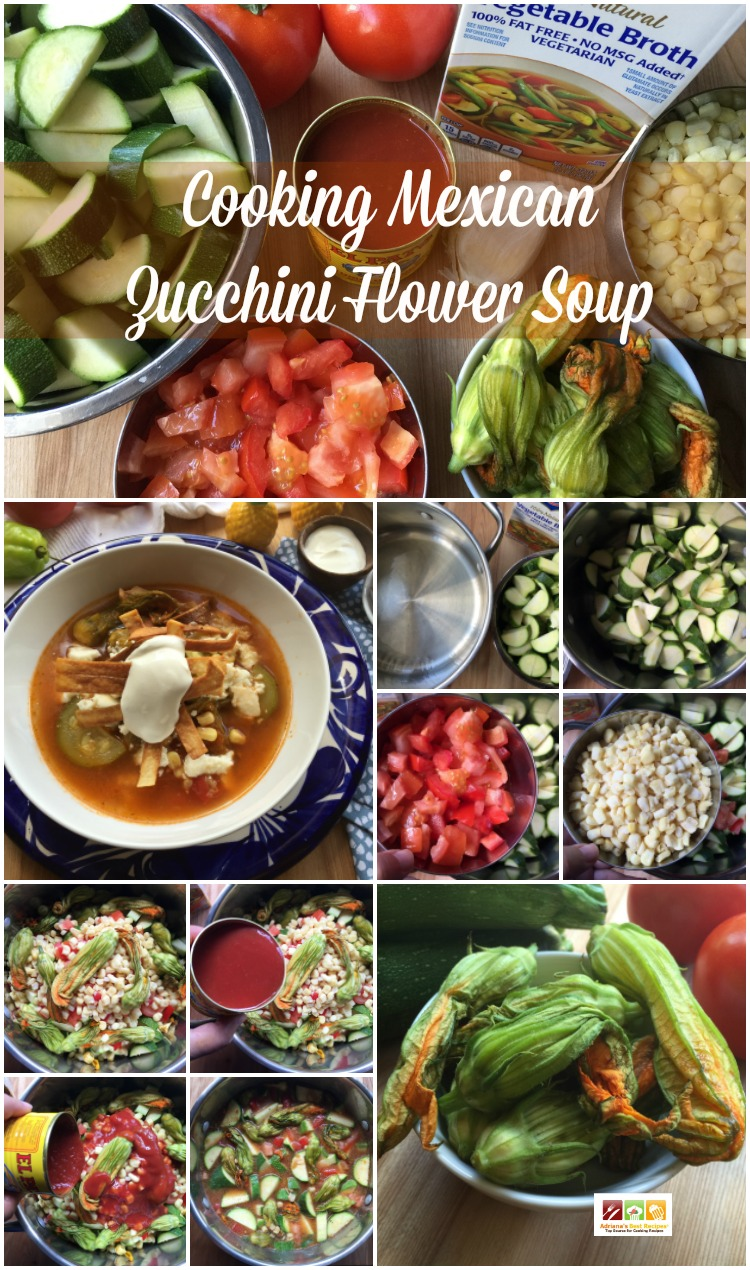 Cooking Mexican Zucchini Flower Soup
