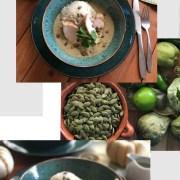 El pepian o pipián también es llamado mole verde y es una salsa muy especial. Hecha con pepitas de calabaza y condimentos especiales como el epazote