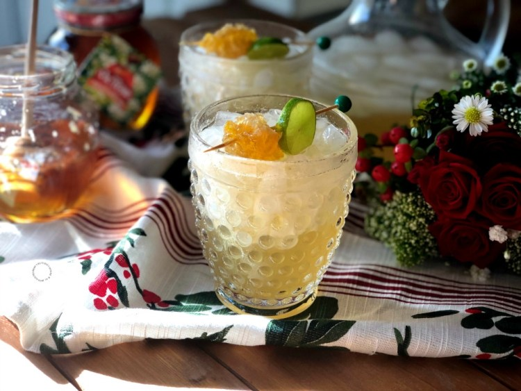 A perfect holiday party includes Honeycomb Margaritas