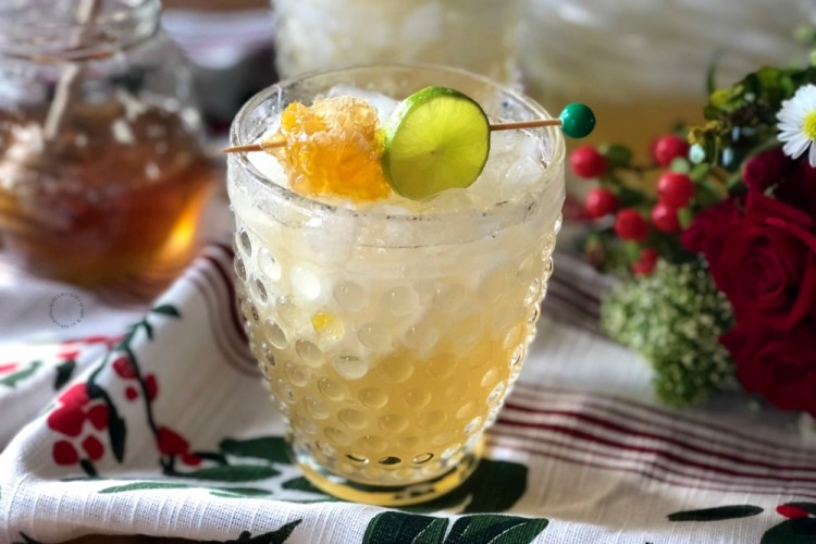 Honeycomb Margarita Holiday Cocktail