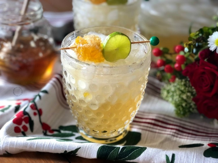 Cheers to the Holidays with a Honeycomb Margarita