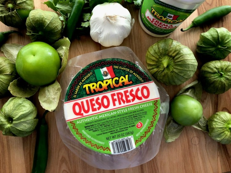 Ingredients for making the Grilled Queso Fresco appetizer