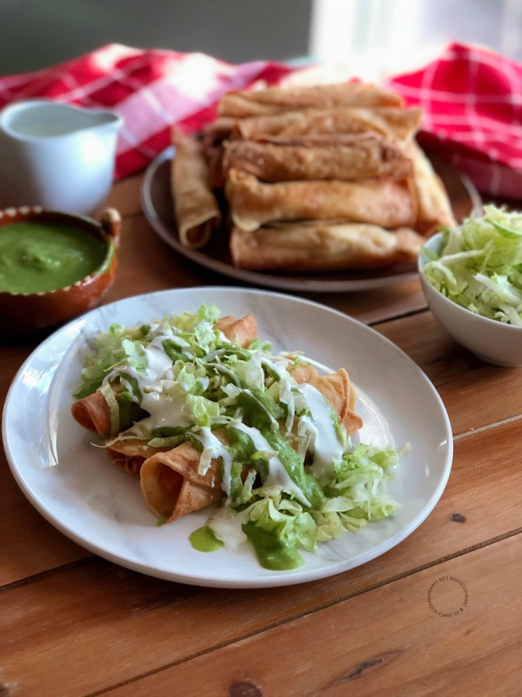 The Crispy Chicken Taquitos are a lovely option for any occasion