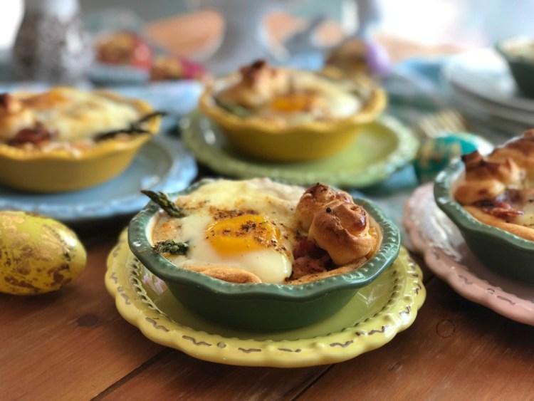 Bacon asparagus egg mini pies ready in less than 30 minutes
