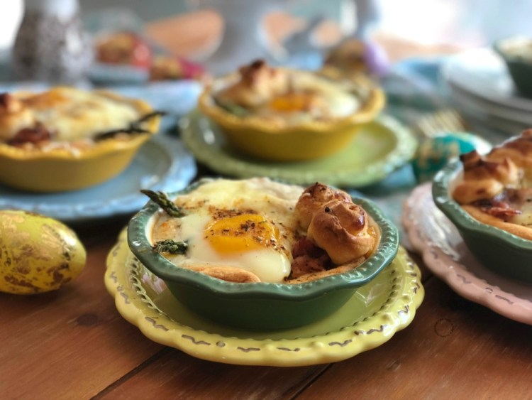 Bacon asparagus egg mini pies ready in less than 30 minutes