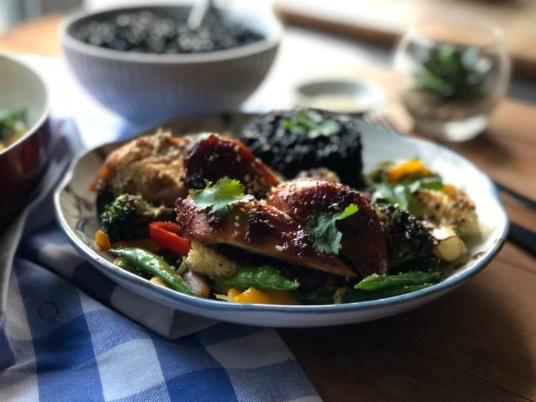 Sheet Pan Hoisin Garlic Chicken Yummy Recipe