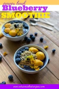 Receta para el smoothie bowl de moras azules o arándanos