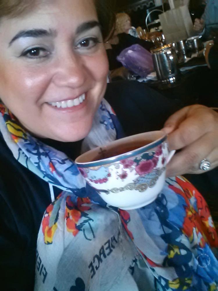 Chef Adriana Martin enjoying tea time at the Fairmont Empress in Victoria