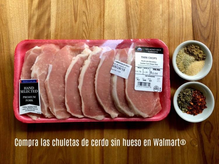 Compra las chuletas de cerdo sin hueso en Walmart
