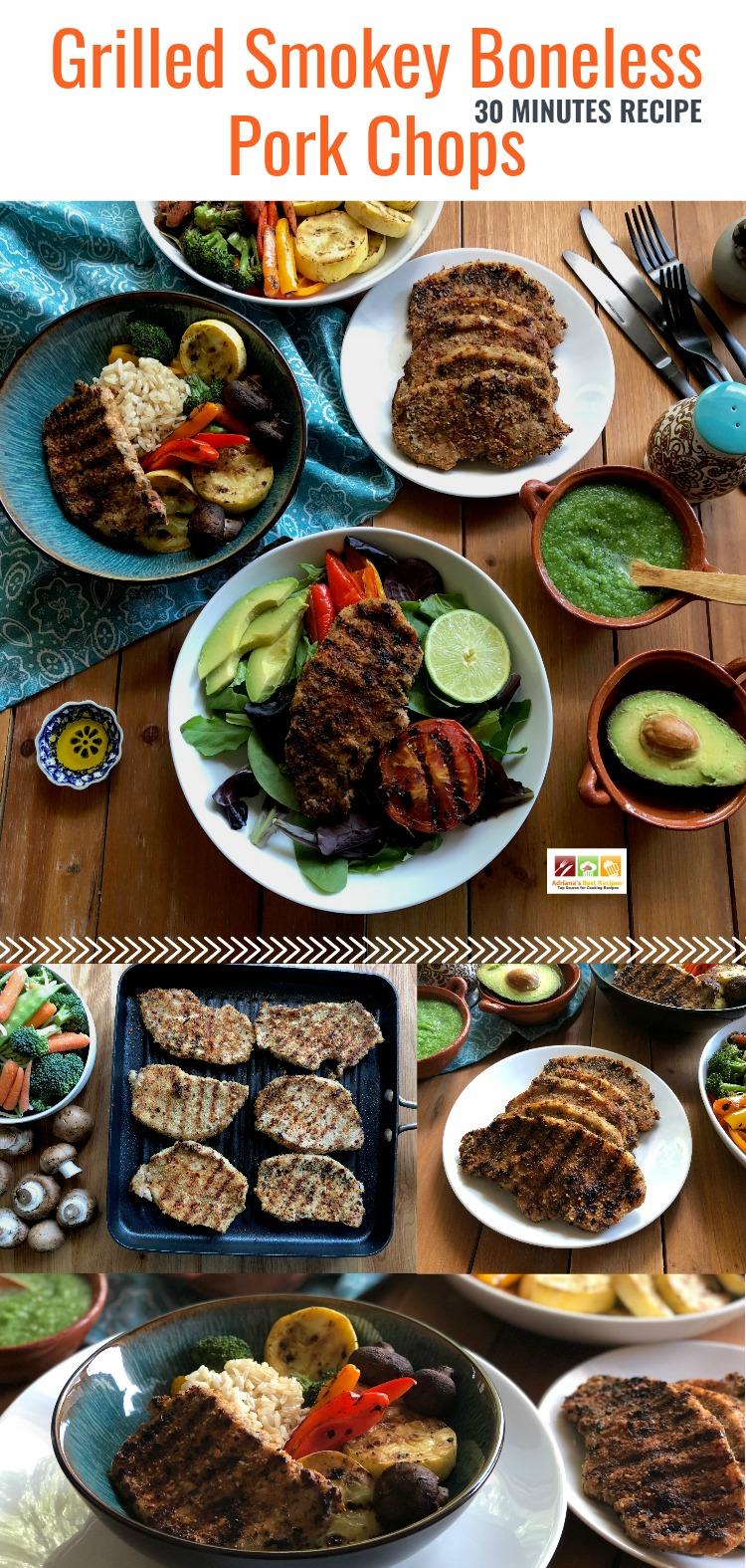 Grilled Smokey Boneless Pork Chops Dinner Options