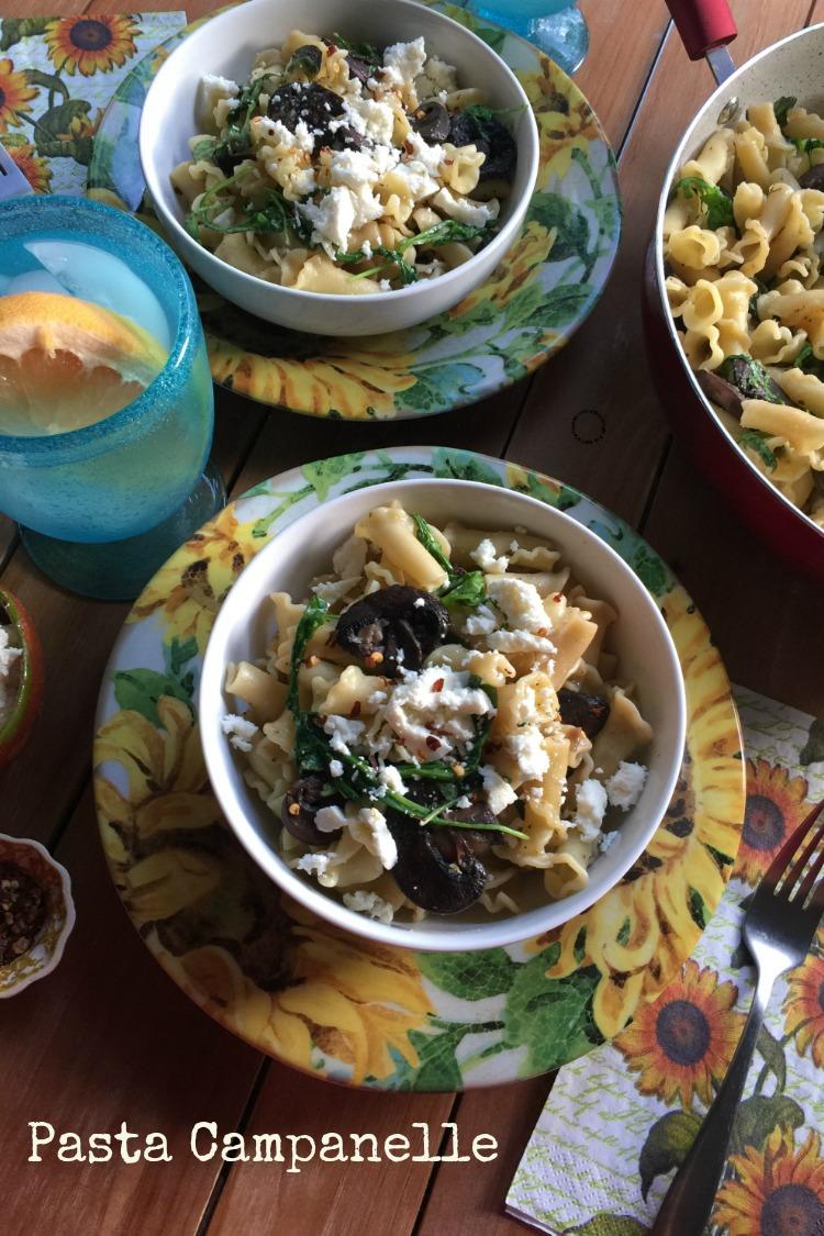 Pasta Campanelle con Hongos, riquísima y lista en sólo 20 minutos