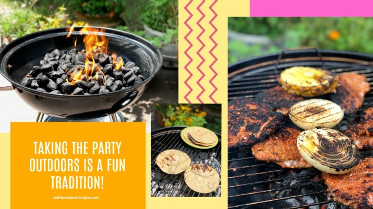 Taking the party outdoors is a fun tradition