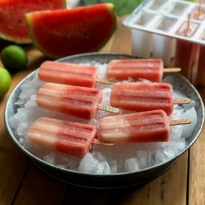 Watermelon Lemonade Ice Pops