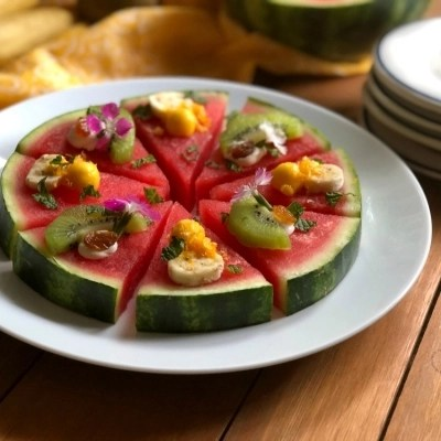 Fresh Watermelon Pizza, a Lunchbox Favorite