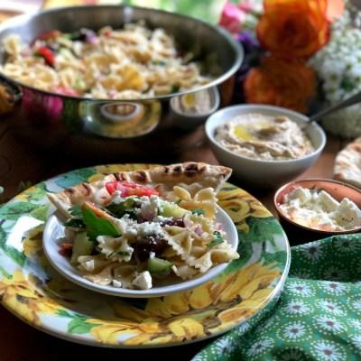 Farfalle Pasta Salad Greek Style