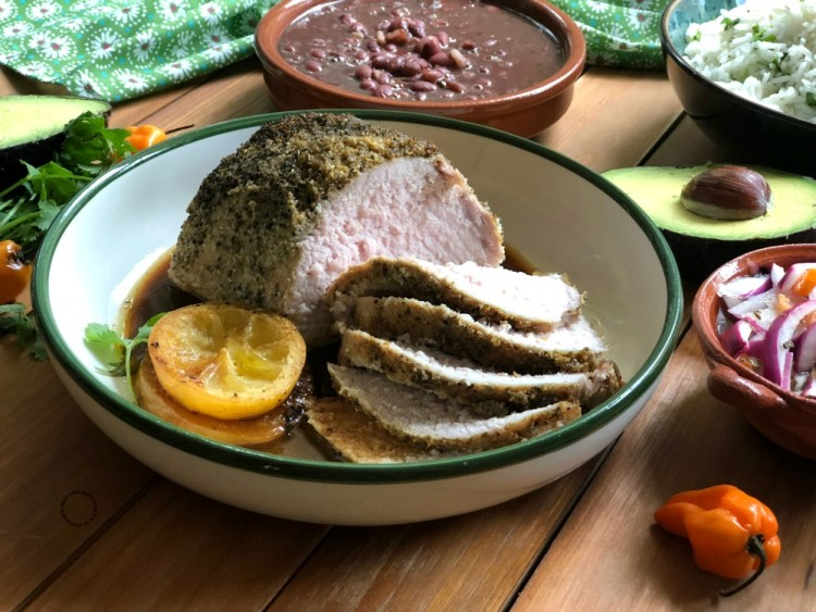 Juicy and extremely flavorful tequila lemon roasted pork loin