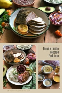 The tequila lemon roasted pork loin is inspired in the famous margarita cocktail